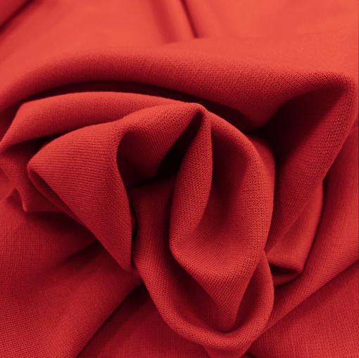 Джерси вискозное стрейч ярко-красного цвета