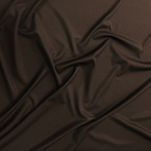 Джерси вискозное стрейч цвета горького шоколада