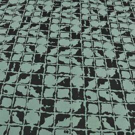 Трикотаж джерси зеленый с квадратами
