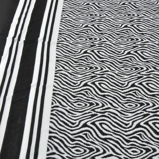 Джерси плательное купон зебра черно-белая