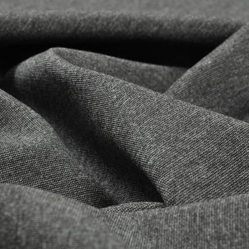 Джерси костюмно-плательное темно - серое меланж