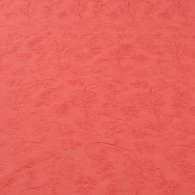 Вышитый хлопок стрейч кораллового цвета