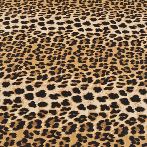 Костюмно-плательный хлопок стрейч с леопардовым рисунком
