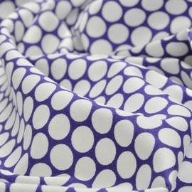 Плотный хлопок лилового цвета с крупными горошинами