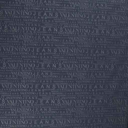 Плащевка синяя с буквами Valentino