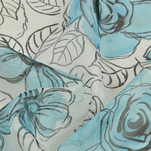 Нежнейший муслин в голубой цветок