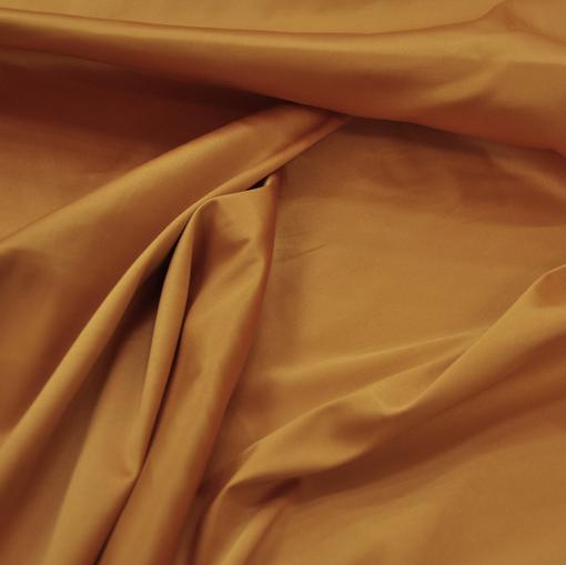 Атлас вискозный стрейч цвета охры