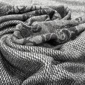 Джерси смесовое плательное купон серо-черные розы