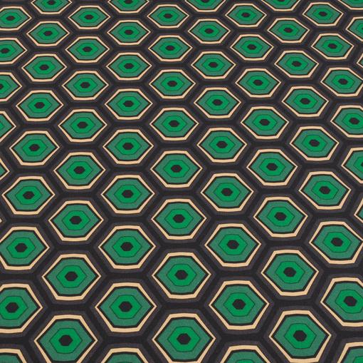 Синтетический трикотаж с геометрическим рисунком