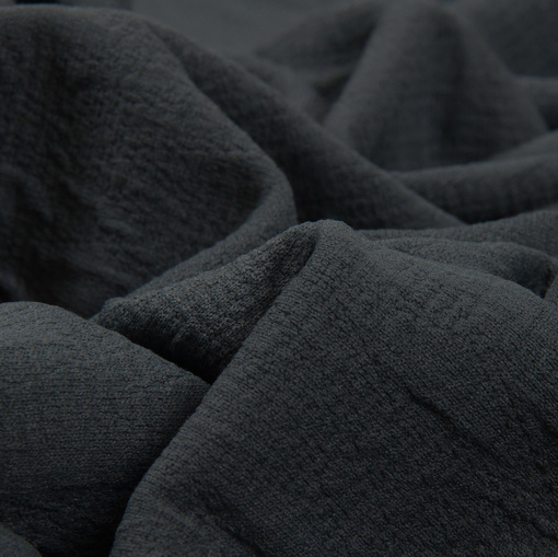 Жаккардовый смесовый трикотаж серого цвета в виде ромбиков