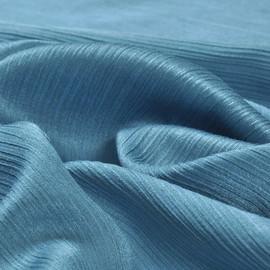 Шелк с хлопком креш морская волна