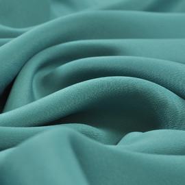 Крепдешин смесовый цвета глубокой морской волны