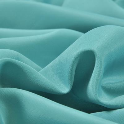 Крепдешин смесовый цвета голубой морской волны