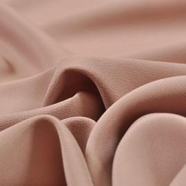 Крепдешин смесовый цвета розовой пенки