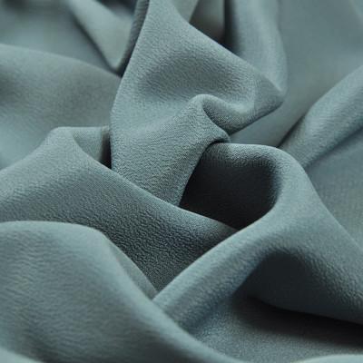 Крепдешин смесовый серо-голубого цвета