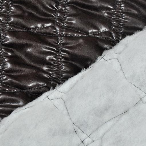 Курточная стеганная ткань баклажанового цвета