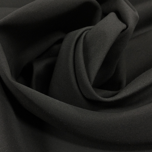 Ткань курточная хлопковая с пропиткой черного цвета