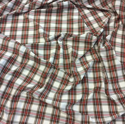 Хлопок рубашечный стрейч Burberry красно-коричневая клетка