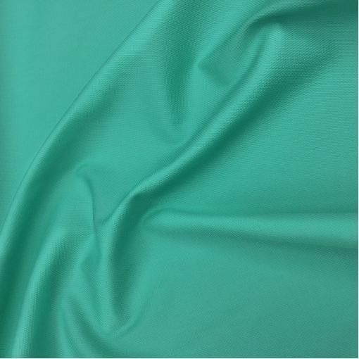 Хлопок пике стрейч бирюзово-зеленого цвета