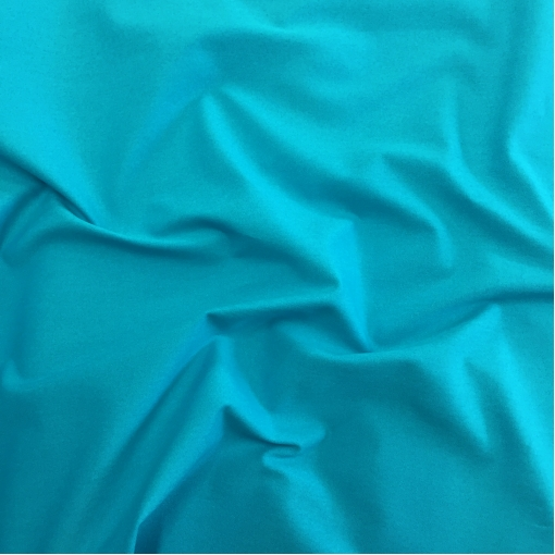 Джинса хлопковая стрейч ярко-бирюзового цвета