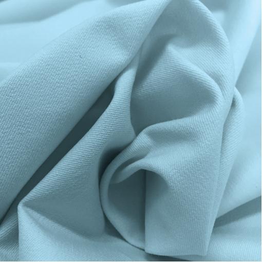 Джинса хлопковая стрейч пыльно-голубого цвета