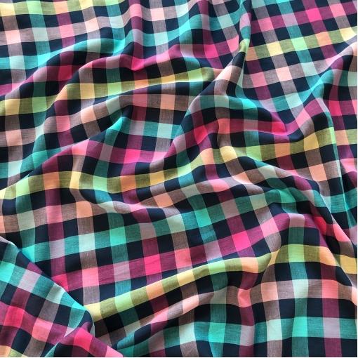 Хлопок рубашечный Sportmax разноцветная клеточка