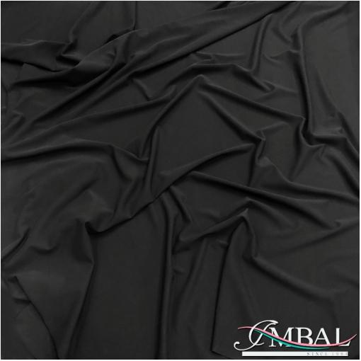 Трикотаж-кади вискозный скользкий стрейч черного цвета