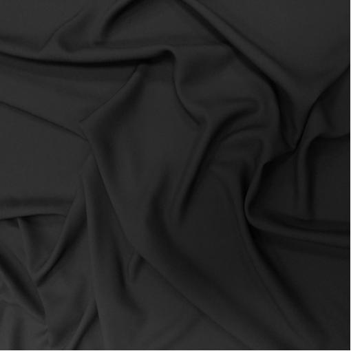 Кади вискозное плательное стрейч черного цвета