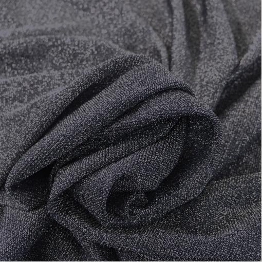 Трикотаж вискозный нарядный тонкий серо-синего цвета с люрексом