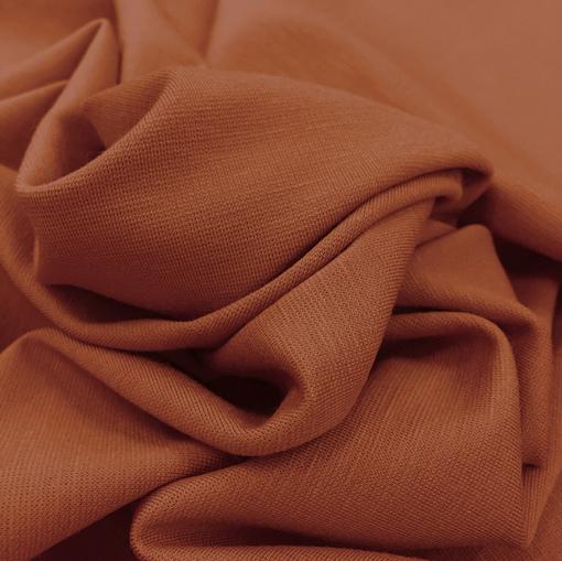 Джерси вискозное терракотового цвета