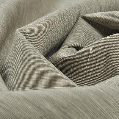Костюмная хлопковая ткань серого цвета с выработкой