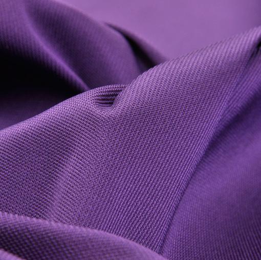 Ярко-фиолетовый жаккардовый атлас-стрейч в мелкую рябь