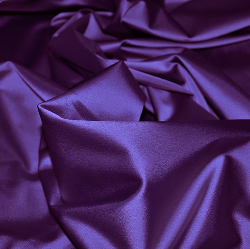 Фиолетовый атлас-стрейч
