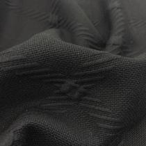 Джерси жаккардовое шерстяное черного цвета