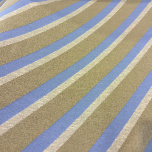 Джерси вискозное стрейч диагональная голубая полоса