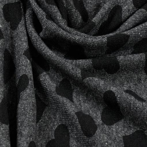 Джерси темно-серого цвета с черными сердечками