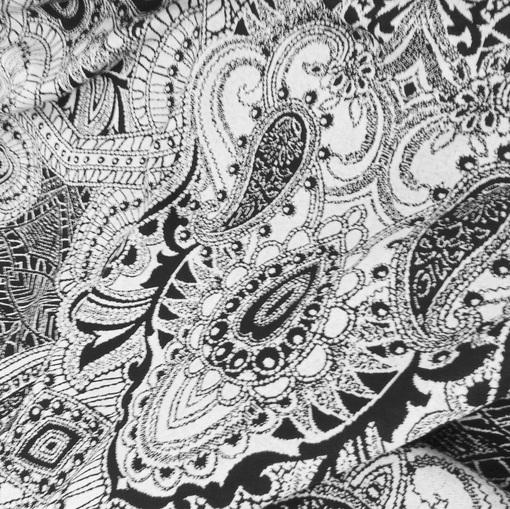 Черно-белый трикотаж джерси