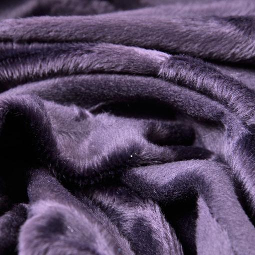 Искусственный мех фиолетового цвета с коротким ворсом