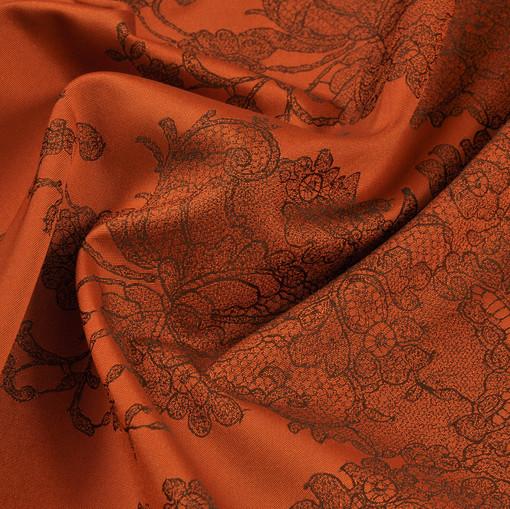 Тафта плащево-плательная, терракотового цвета