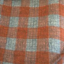 Ткань плательная шерстяная мягкая стрейч в серую клетку