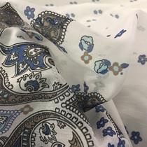 Хлопок батист принт ETRO купон огурцы в синих тонах