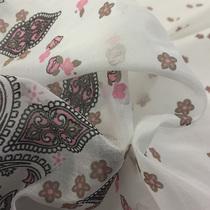 Хлопок батист принт ETRO купон огурцы в бежево-розовых тонах