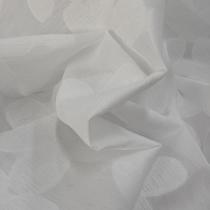 Органза деворе Naeem Khan белая с хлопковыми цветами