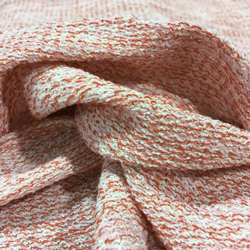 Шанель плательная трикотажная в терракотово-розовых тонах