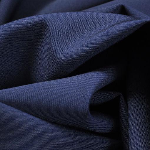 Ярко-синяя костюмная шерсть