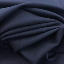 Ткань костюмная тонкая шерсть стрейч темно-синего цвета