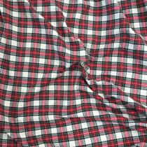 Ткань костюмная хлопковая Burberry красно-бело-зеленая клетка