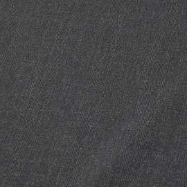 Темно-серая костюмная ткань в еле заметную клетку