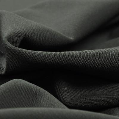 Костюмная шерстяная ткань темно-зеленая