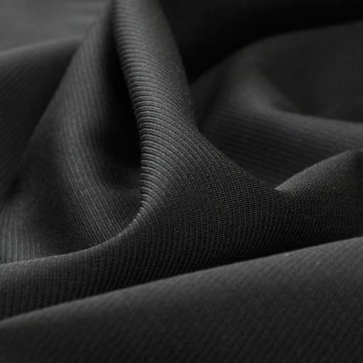 Костюмная шерстяная ткань черная